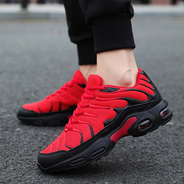 Damyuan 2019 Breathable mesh Men Sneakers Comfortable Air Cushion Outdoor Walking Heightened Red Running Shoes Big Size 46 3