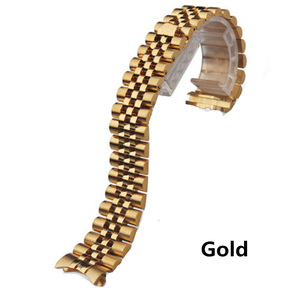 Image 4 - Mannen Vrouwen 13mm 17mm 20mm Merken Zilver Goud rvs Horlogebanden Strap Vervangen Voor DATEJUST ROL Horloge polsband Armband