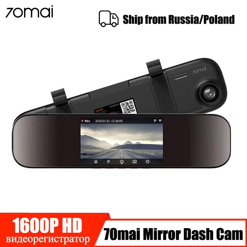 70mai rétroviseur caméra tableau de bord Wifi 1600P HD 70 Mai Dashcam vue arrière voiture DVR caméra enregistreur vidéo g-sensor 24H moniteur de stationnement