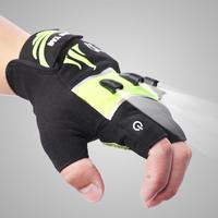 Fishing Magic Short finger gloves LED Glove Flashlight Camping Hiking Lights Multipurpose