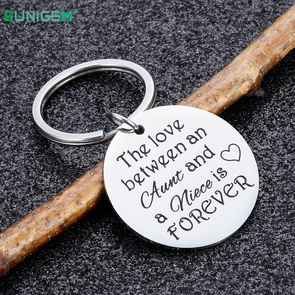 Aunt Keyring Gifts From Niece Keychain The Love Between An Aunt And Niece Is Forever Aunt Wedding Gifts For Aunts Nieces Women