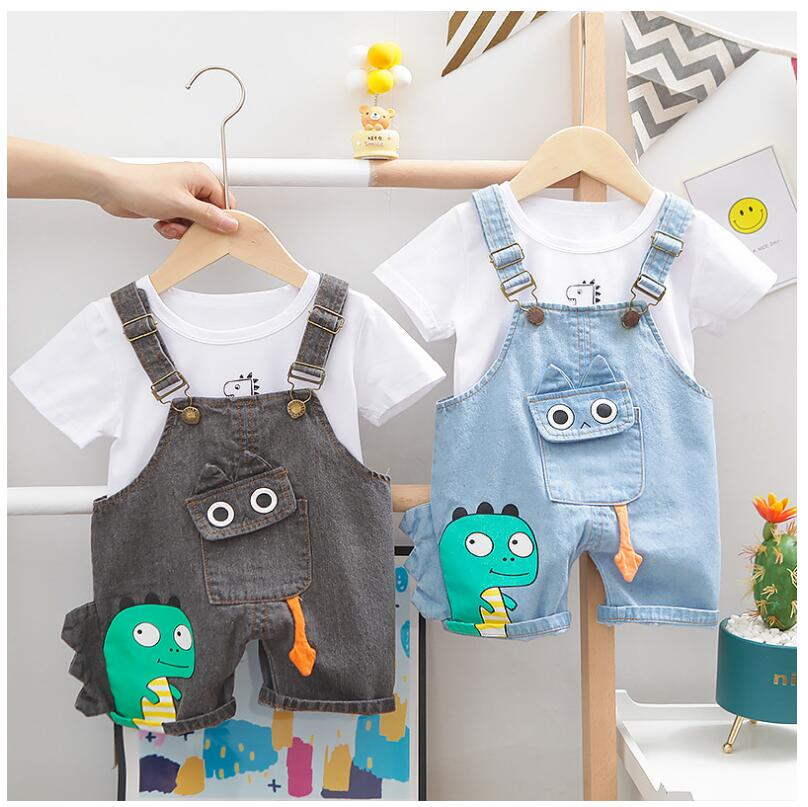 2020 Summer  Baby Infant Clothing Sets  Toddler Boys Clothes Suits Shirt Cartoon Shorts Kids Children Costume Suits