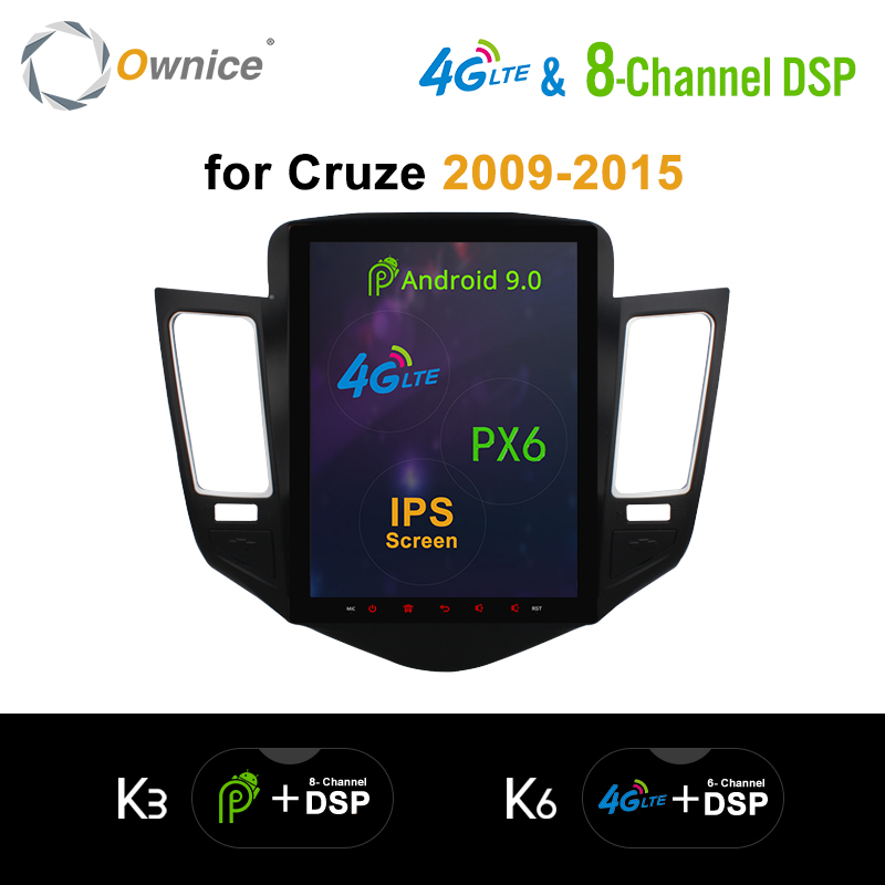 DSP Vertical Android 9.0 Car DVD for <font><b>Chevrolet</b></font> <font><b>Cruze</b></font> 2009 2010 <font><b>2011</b></font>-2014 K3 K6 Car Radio DSP 4G LTE SPDIF PX6 GPS Navigation image