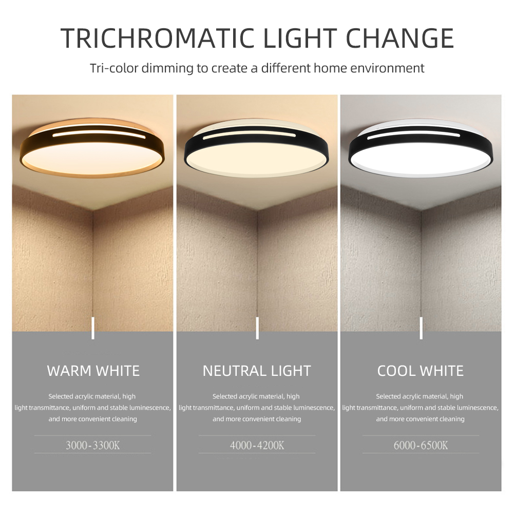 Image 3 - Ceiling Light Dimmable 72w 36w LED Panel Lamp Down Light Surface Mounted AC 220V Modern Lamp For Home led ceiling LightingCeiling Lights   -