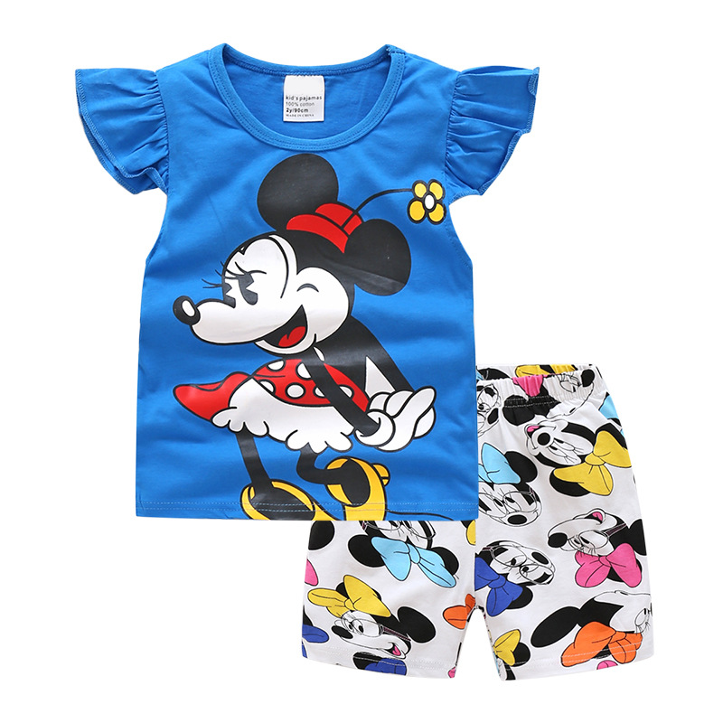2020 Kids Baby Girl Clothes Minnie Toddler Girls Summer Clothing Set Tracksuit Conjunto Menina Ensemble Fille