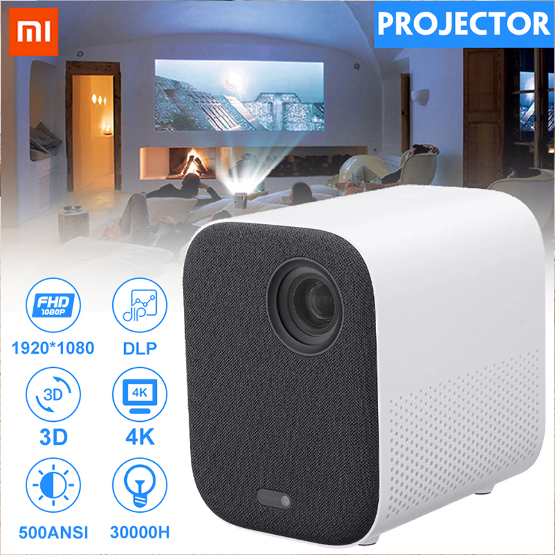 Xiaomi Mijia MINI proyector TV 4K DLP Full HD 1080P beamer 30000 LED Wifi bluetooth 3D proyector de cine en casa