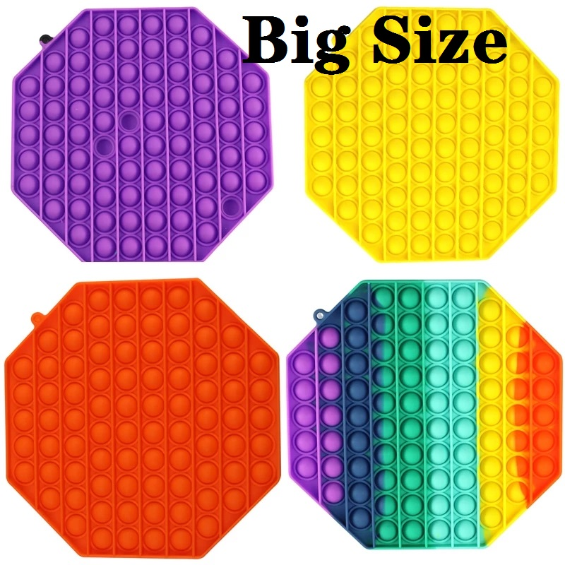 Box Fidget-Toys Stress Push Bubble Squishy Adult Kids Big-Size Relief-Toy Popsits Soft img1
