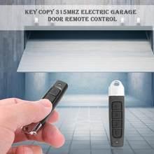 AK-1301 315mhz abs sem fio duplicador 4 botão clone controlador porta garagem chave fob tensão avaliado 12v corrente 10ma 315mhz