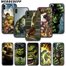 Hulk WEBBEDEPP 7 silicone suave phone case para iPhone 5 6 8 Plus X XS XR XS Max.11 11peo 11proMax(China)
