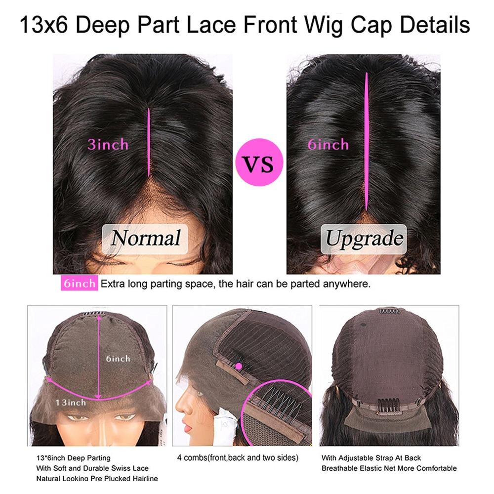 perucas de cabelo humano 13x4 colorido cabelo