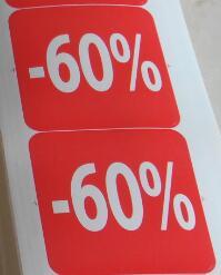 1000 шт./лот, 51x51 мм скидка от 10 до 90 скидка бумажная этикетка наклейка для продаж магазина, пункт № PD09