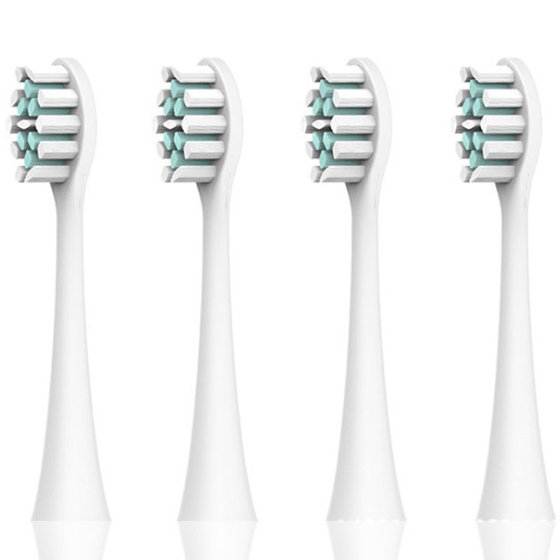 SmartSonic+ Sonic vibration electric toothbrush head, Electric toothbrush replacement head for SmartSonic+ T3 T5 T6 T8 T10:white