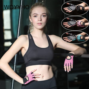Weightlifting-Gloves Gym Half-Finger Breathable Woman for Hollow
