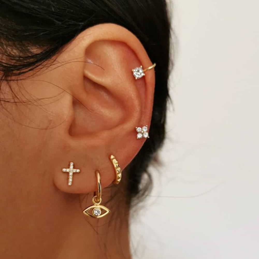 Stud Earrings Set Stud Earrings Set For Women Cowrie Earring Pins Party Jewelry Gift Wholesale