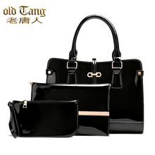 OLD TANG New Leather 3 In 1 High Quality Handbag For Women 2020 Fashion Sequin Shoulder Crossbody Bag Ladies Purse Tote