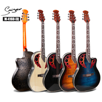 Smiger 1Pc 41 Inch Electric Acoustic Guitar M 1460 EQ Ovation Guitar Semi Electric Acoustic Guitar With 4 band pickup