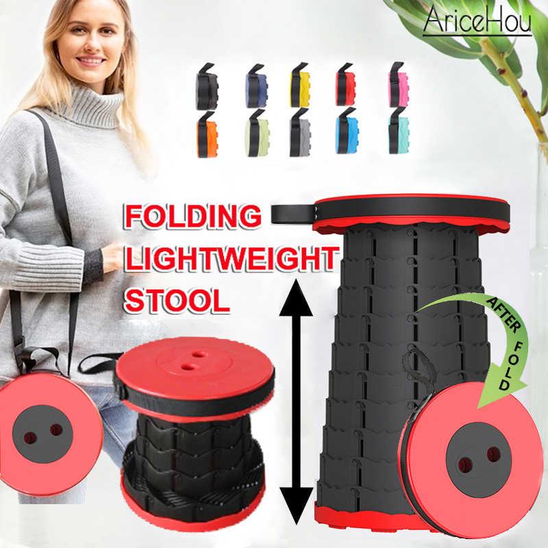 Portable Télescopique Rainbow pliant tabouret pour intérieur extérieur camping BBQ Pêche