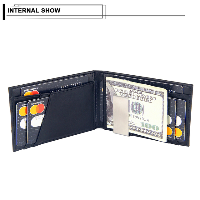 Fashion Men Wallet Casual Multi-card Position Credit Card Holder Ultra Thin Coin Purse For Men Portable Bifold Male Clutch Bag