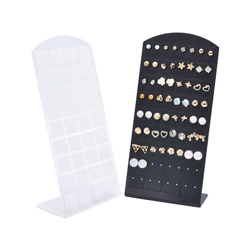 New Fashion 72 Holes Earrings Jewelry Show Black Display Stand Holder