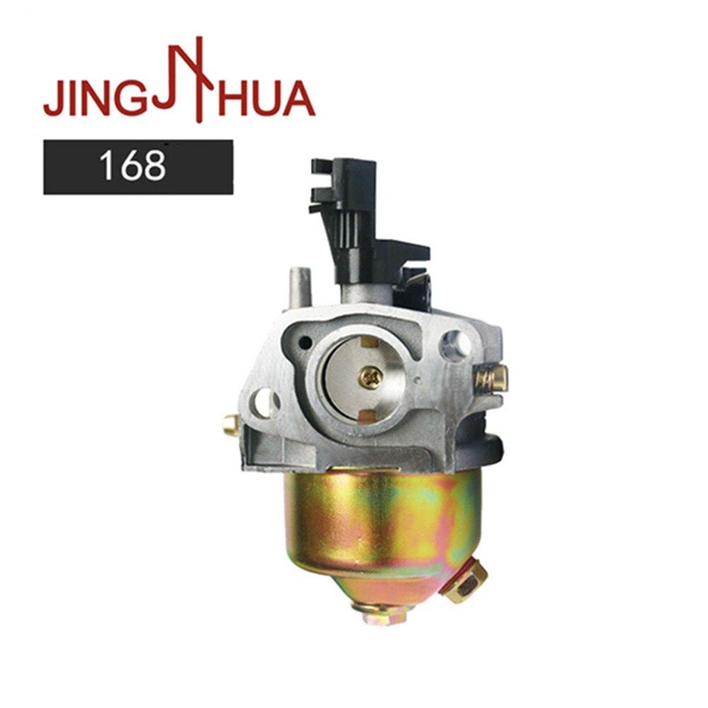 Jinghua-carburador 168 para generador portátil de gasolina, Honda Gx160, GX200, 168F, 5.5HP, 2000W, 2500W, 3000W, 3500W, 196CC