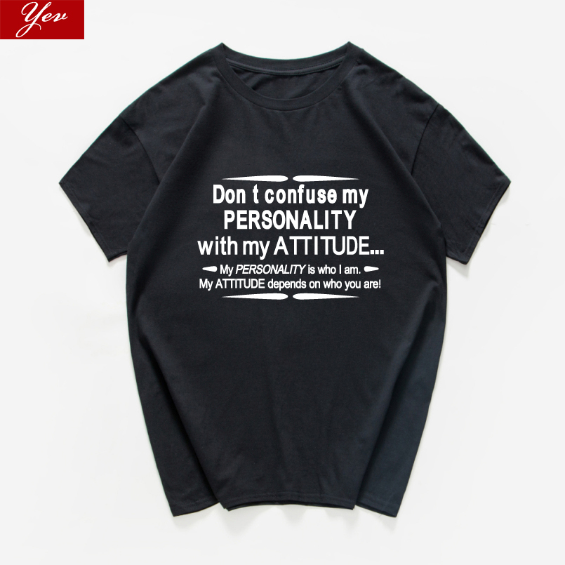 don;t confuse my personality Sarcastic Graphic Novelty funny tshirt men cotton hip hop hipster aesthetic streetwear men clothing