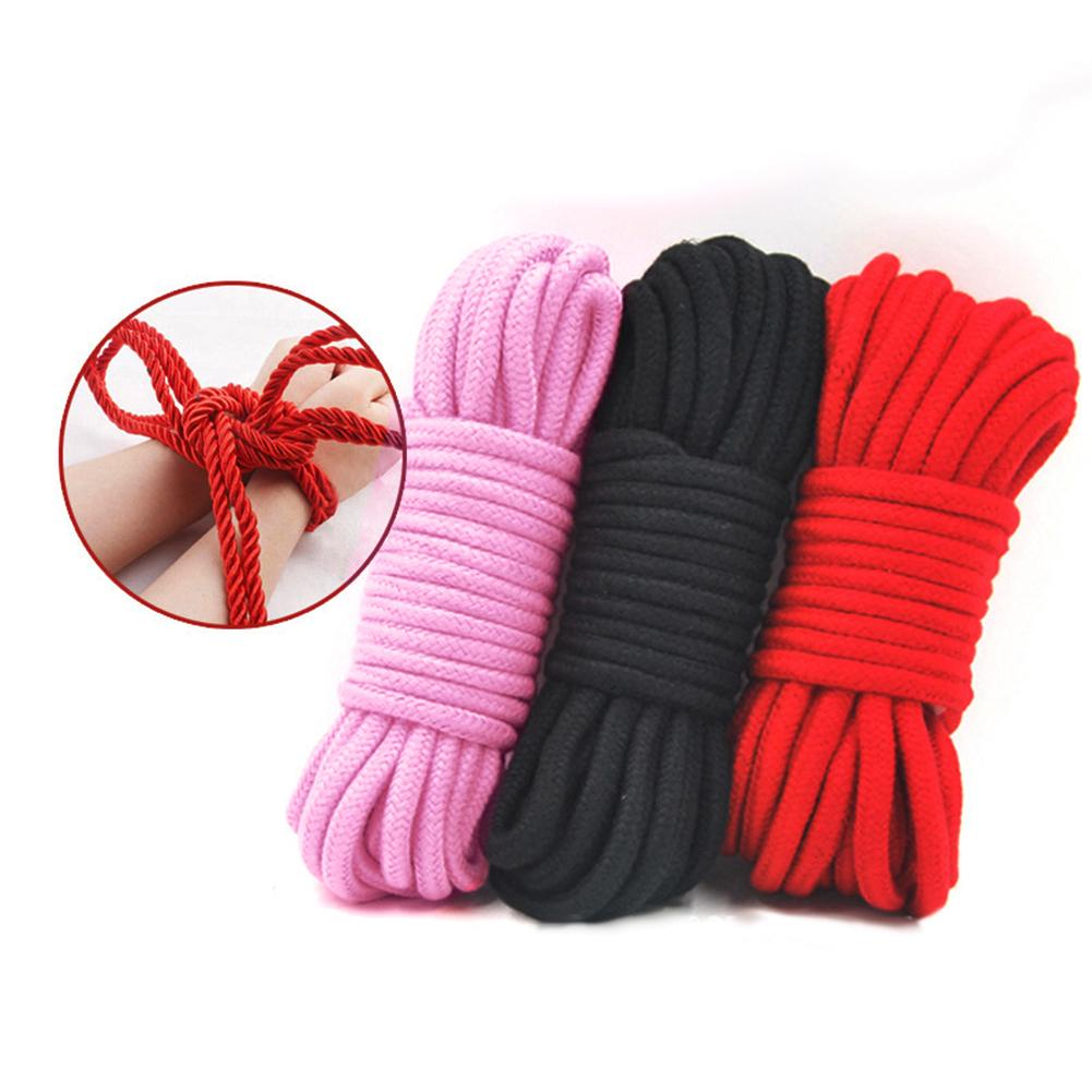 10M Slave Bondage Rope BDSM Restraints Bundle Strap Adult Couples Sex Erotic Toy Handcuffs Footcuff Whip Rope Nipple Toys For Co