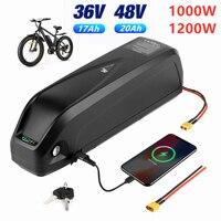 2021 pacco batteria bici elettrica 48V 17Ah 36V 20Ah celle mozzo posteriore anteriore/Kit motore bici centrale con spina caricabatterie XT60