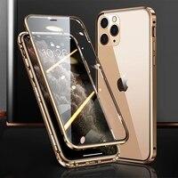 360 volle schutz magnetische doppelseitige glas abdeckung Für iPhone 12 11 Pro Max iPhone X XS XR telefon fall