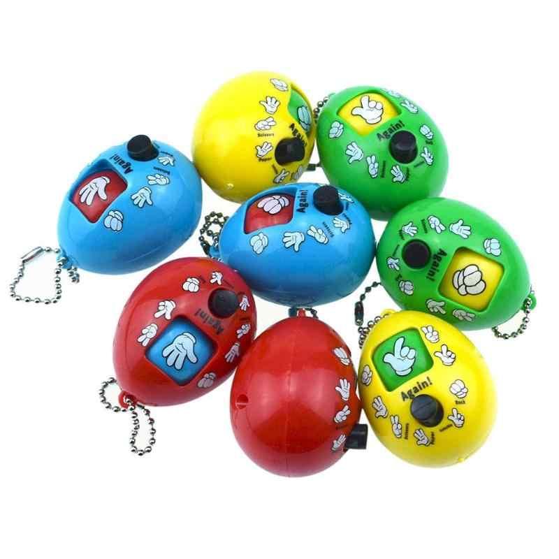 Przycisk naciśnij kamień nożyczki zgadywanie zabawka okrągłe jajko brelok gra rodzinna papier kamień nożyczki zagraj kolorowa zabawka losowo