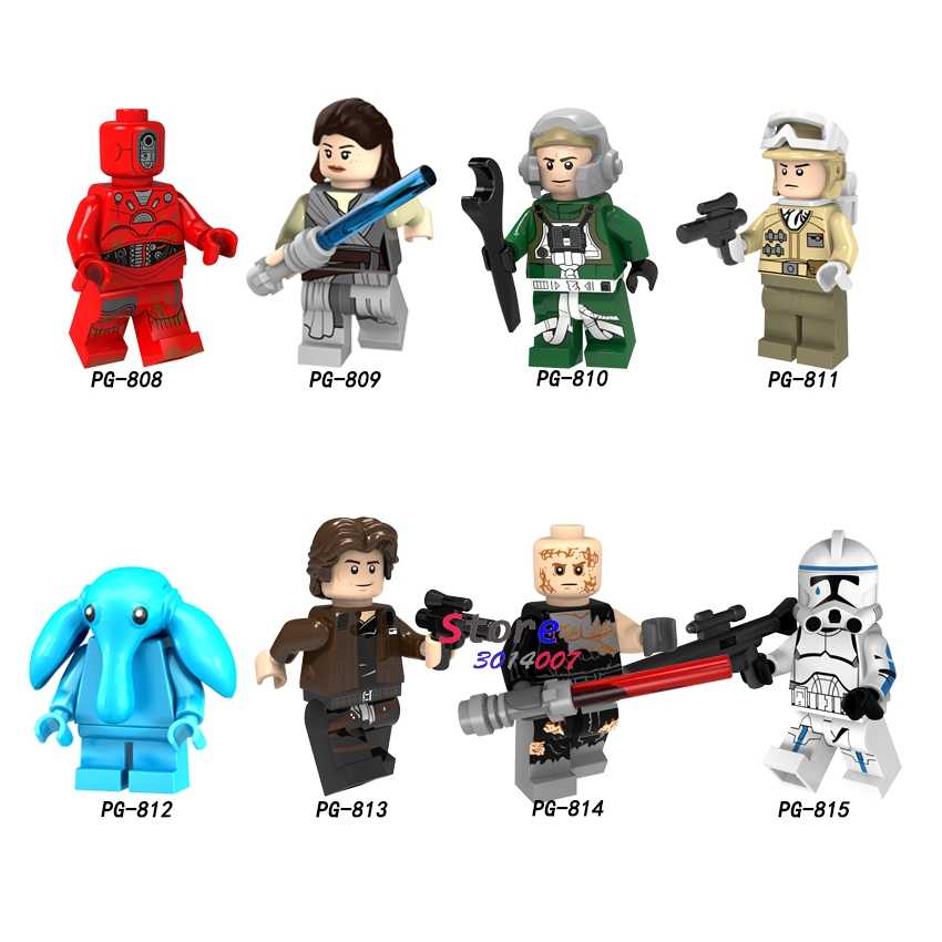 Single Solo A Story Rey Han Solo Hoth Rebel Anakin A Wing Pilot building block toys for children