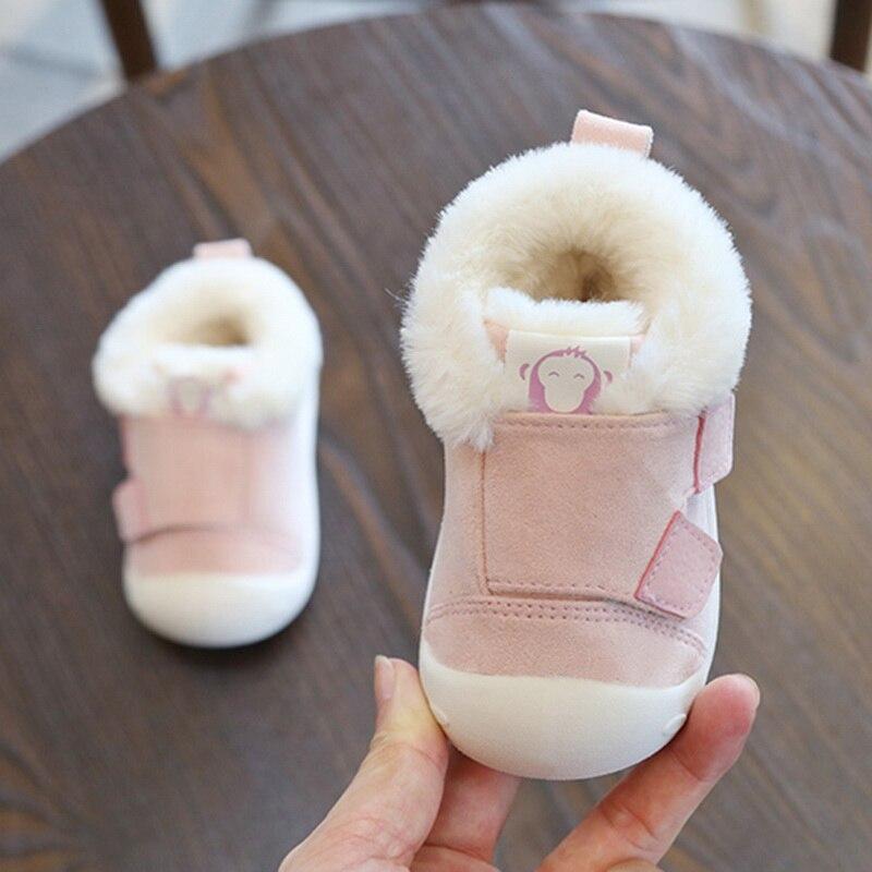 Winter Boots Baby Infant Toddler Newborn Cute Cartoon Bear Shoes Girls Boys First Walkers Super Keep Warm Snowfield Booties Boot
