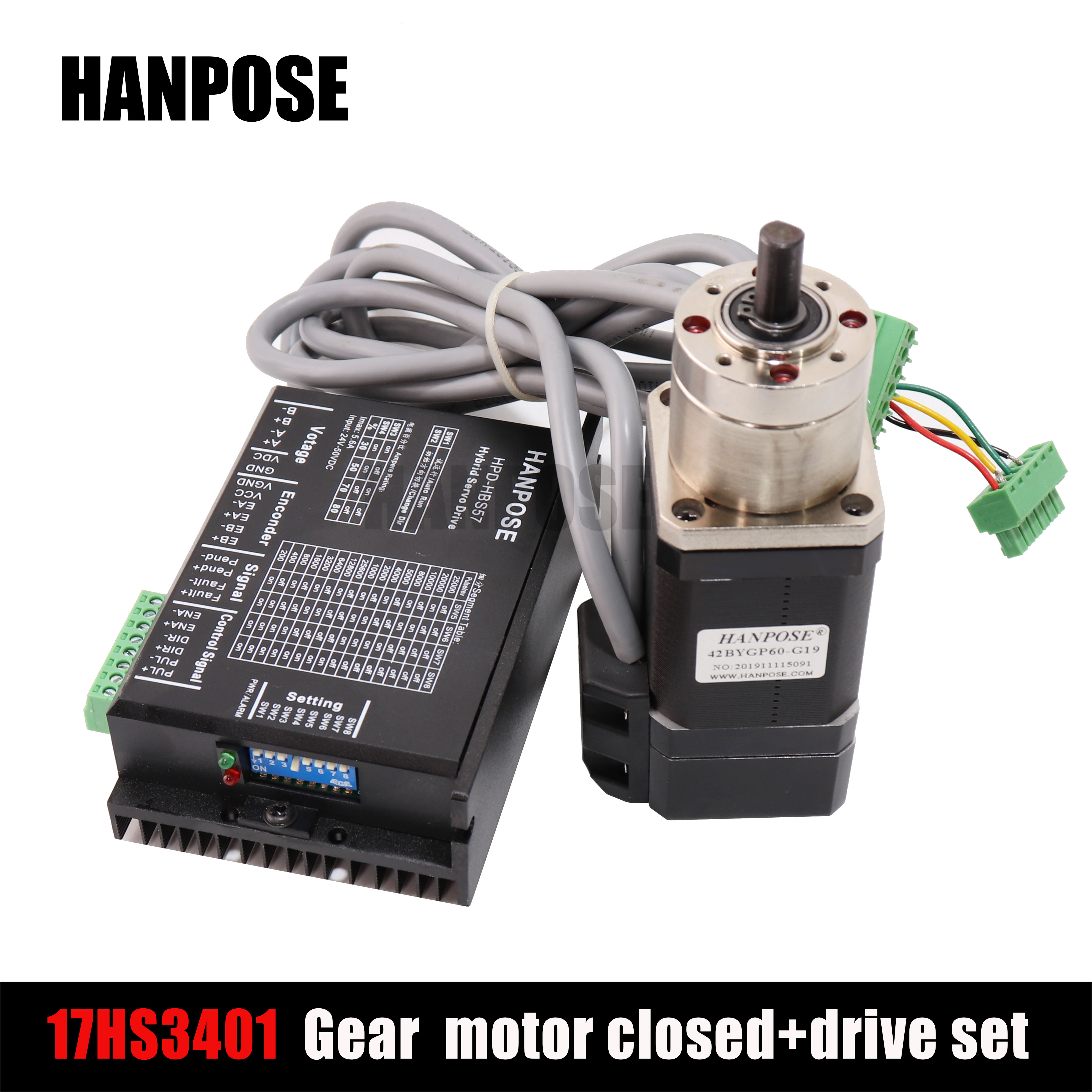 <font><b>NEMA17</b></font> PG Stepper motor deceleration closed-loop plus drive set 17hs3401 closed-loop motor planetary transmission ratio 14-1 image