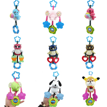 Baby Rattle Crib Hand-Bell Hanging Christmas Elephant Plush-Toys Birthday-Gifts Animals