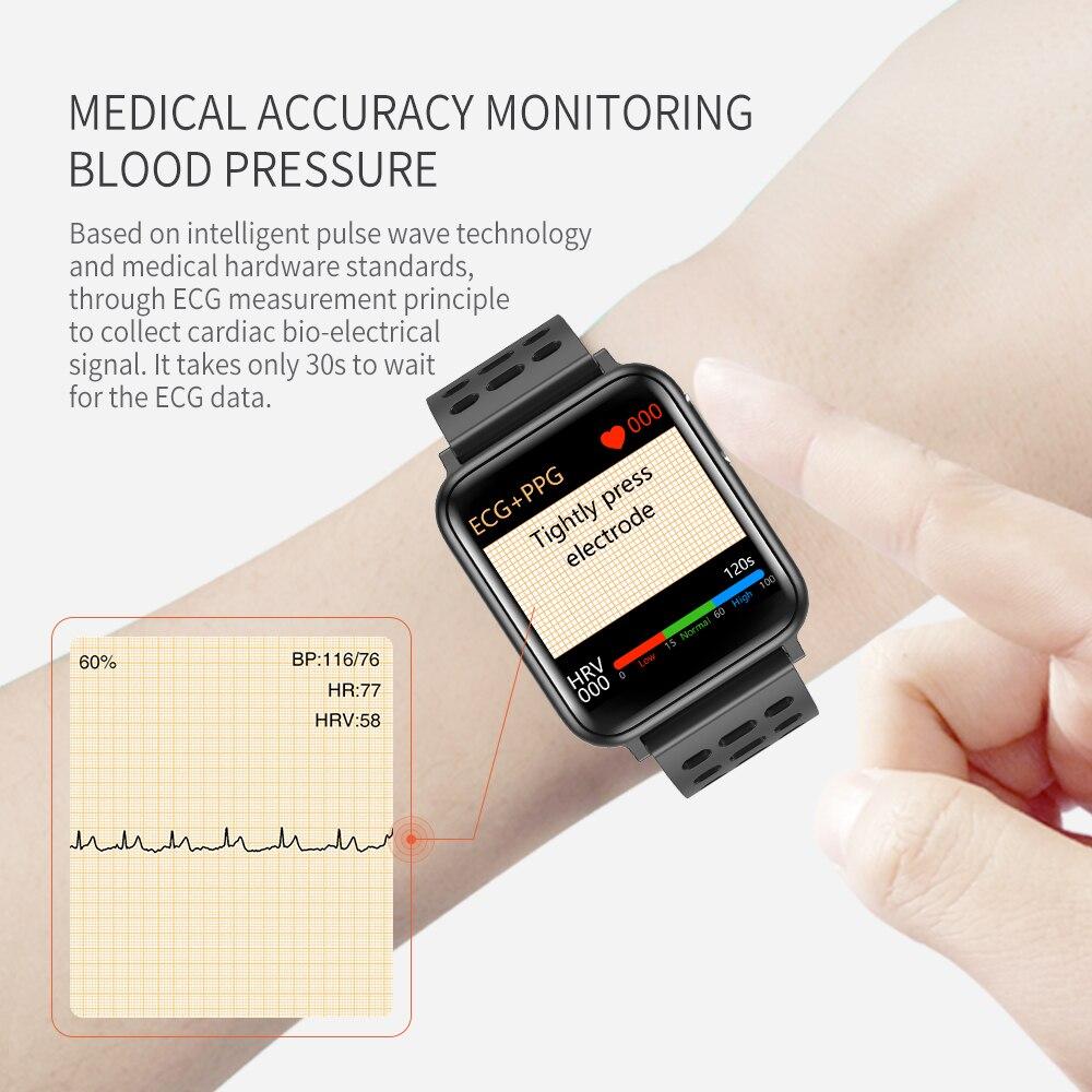 KYCXD smartwatch ekg blutdruck herz rate blut sauerstoff überwachung sport armbänder wasserdichte fitness armband - 5