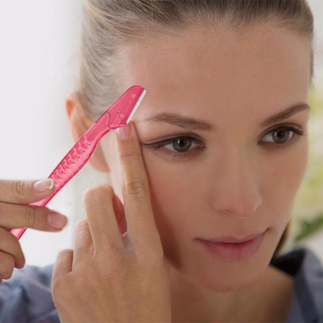 1/2/3 Pcs Portable Eyebrow Knife Women Makeup Facial Tool Eyebrow Lip Razor Trimmer Blade Shaver Knife Beauty Tool Kit TSLM1 4