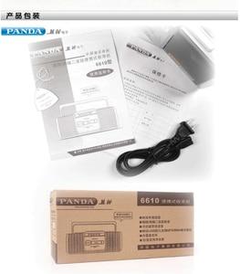 Image 5 - PANDA 6610 Tape Recorder Radio Small Dual Speaker Tape Learn English Playe Two Band Radio