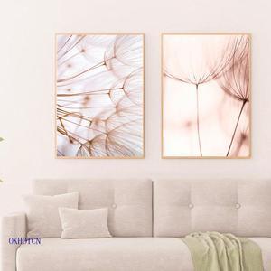 Nordic Pink Dandelion Canvas P