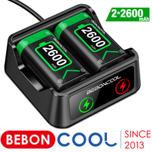 BEBONCOOL 2 x2600mAh Rechargeable Battery Pack For Xbox Series X/Xbox One S Wireless Controller Gamepads + USB Battery Charger