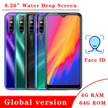 K50 smartphones 4G RAM 64GB ROM Quad Core Global Version Face ID Unlocked Android Mobile phones Celulares 13MP Water Drop screen cheap BYLYND Detachable Face Recognition Up To 48 Hours 3200 Adaptive Fast Charge Smart Phones Bluetooth 5 0 Capacitive Screen