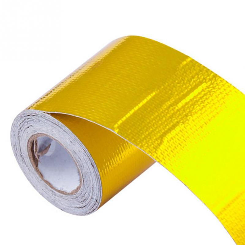 Exhaust Pipe Aluminum Foil High Temperature Wrap Tape Reflective Heat Shield 5m