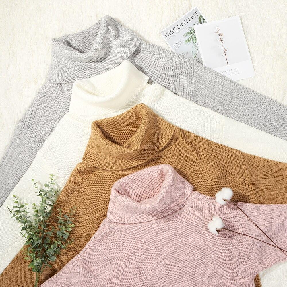 Pullover Frauen Rollkragen Pullover Wome Rosa Weibliche Kleidung 3XL Dame Top Pullover Über Größe Winter Pull Femme Nouveaute 2019