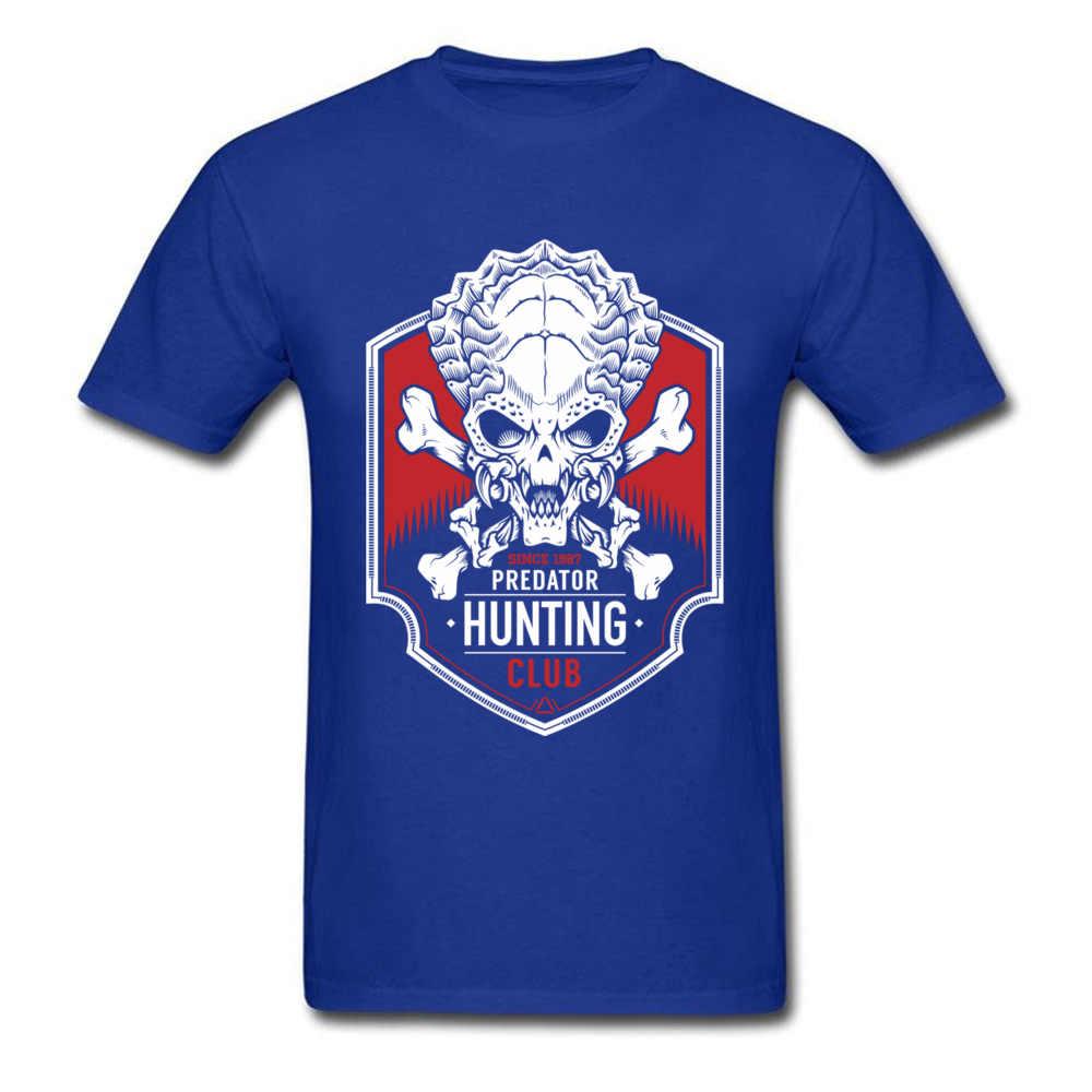T Shirt Uomo Predator Hunter Club T Shirt Uomo Nero Maglietta di Cotone Del Cranio Del Fumetto di Magliette Movie T Camicette Mostro Alieno horror Vestiti