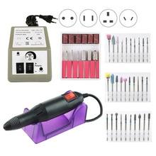 20000RPM Elektrische Nagel Bohrer Maschine Nail art Bohrer Set Fräser Maniküre Maschine Gel Remover Starke Nagel Datei kit