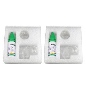 2 Pcs Fish Tank Carbon Dioxide CO2 Monitor Glass Drop Checker Tester Indicator Aquarium