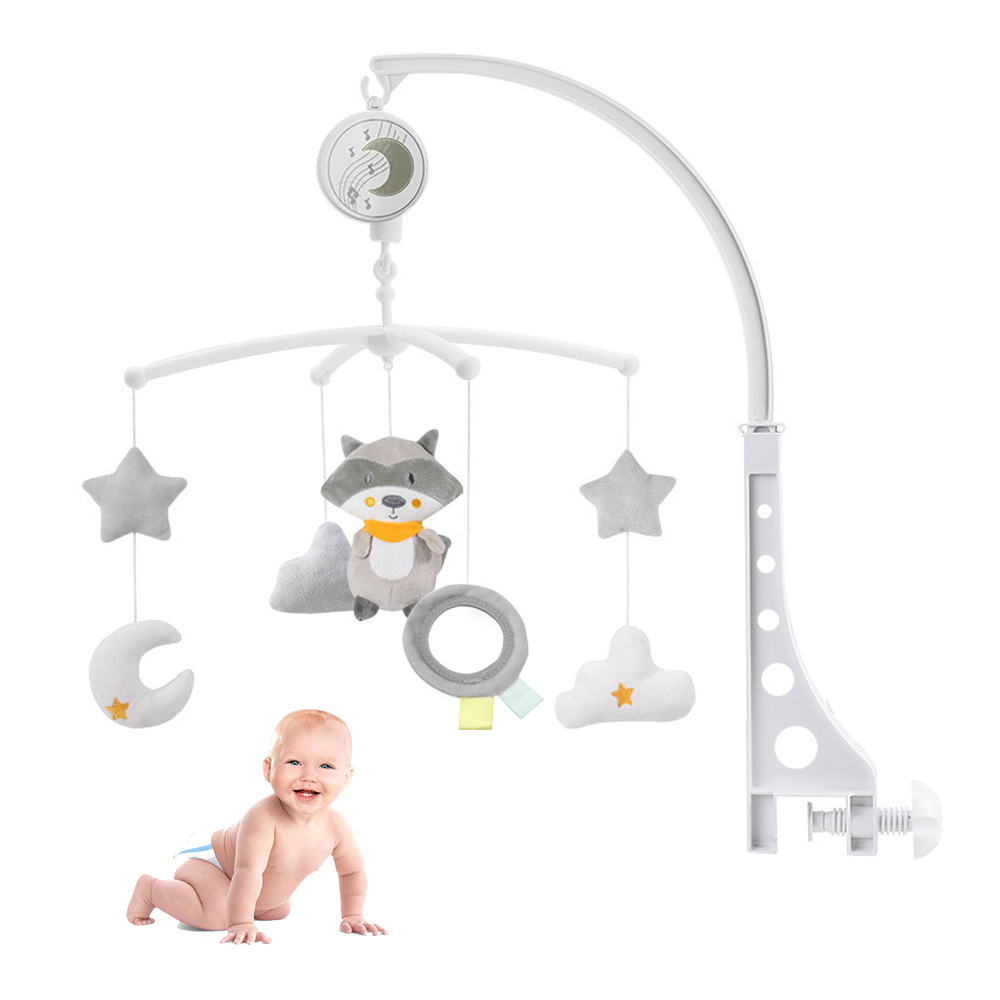 Baby Toys 0-18 Months Baby Crib Holder Rattles Kids Music Box Bed Toy Carousel Mobile For Crib Toddler Bed Bell Kid Rattle Toy