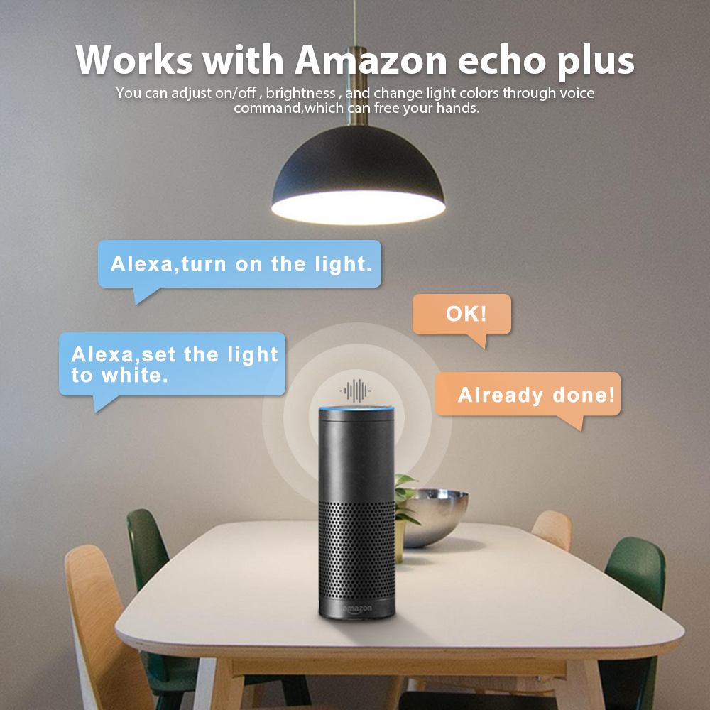 Image 3 - Gledopto White and Color E27 12W LED smart bulb 2 Pack,Zigbee compatible 3.0 gateway ,voice activated with Alexa, 6 zone remote-in LED Bulbs & Tubes from Lights & Lighting