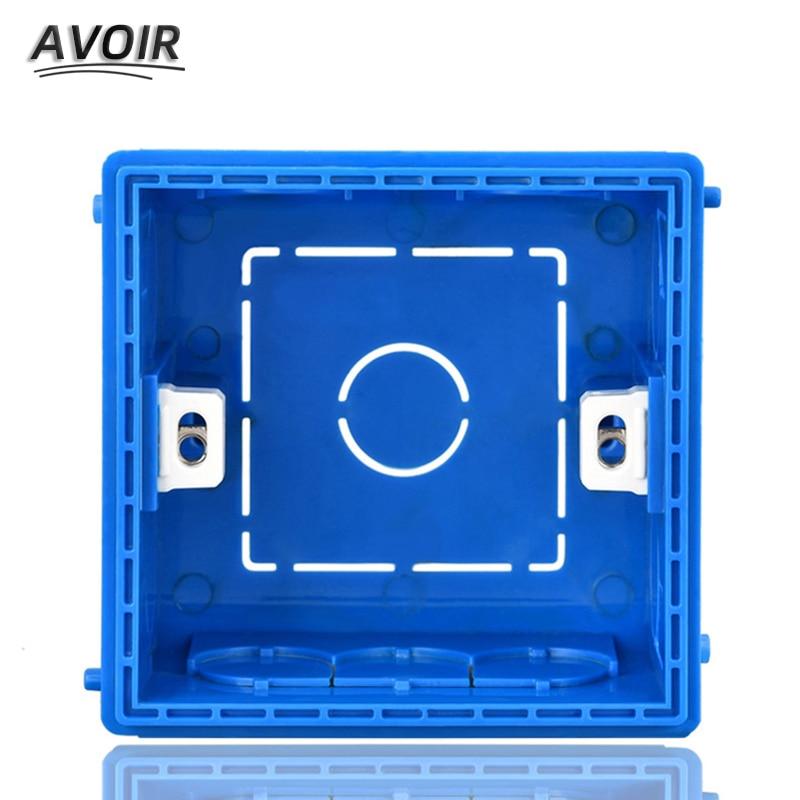 Avoir Adjustable Mounting Junction Box Internal Cassette 86 Type Switch Socket White Red Blue Wiring Back Box For EU UK