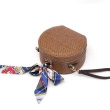Woven Beach Bag Straw Shoulder Bags Women Handbags Rattan Sac A Main For Ladies Round Circle