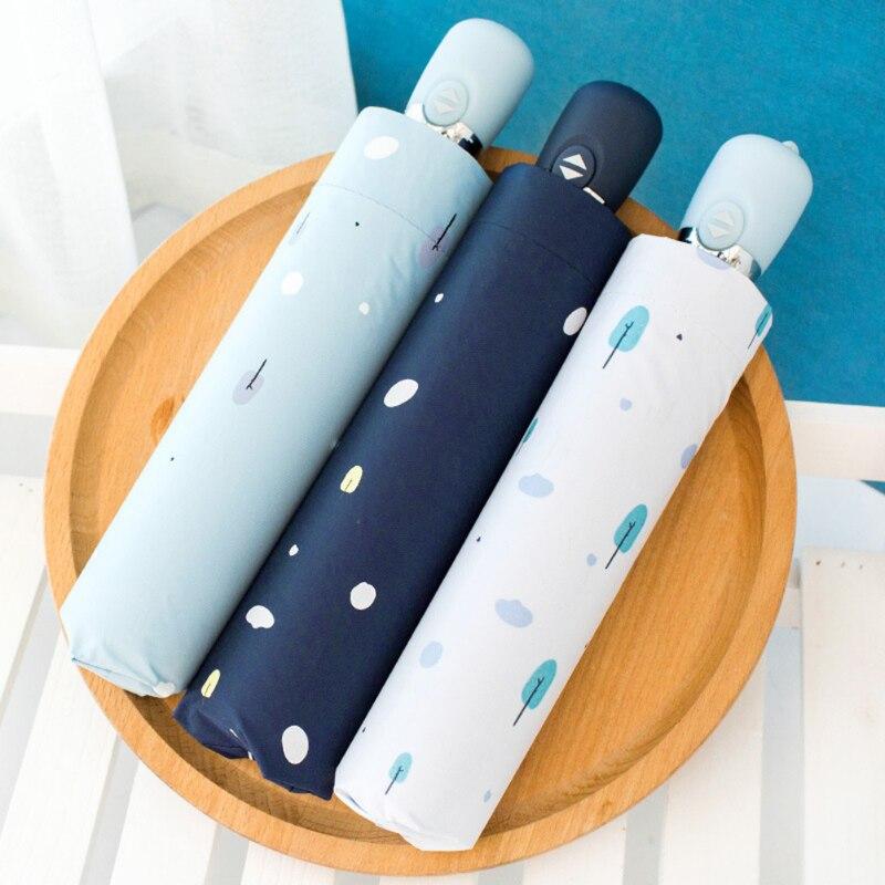 Outdoor Travel Umbrella Sunny Rainy Parasol UV Protection Umbrella Compact Windproof 3 Colors Full-Automatic Women Umbrella Hot