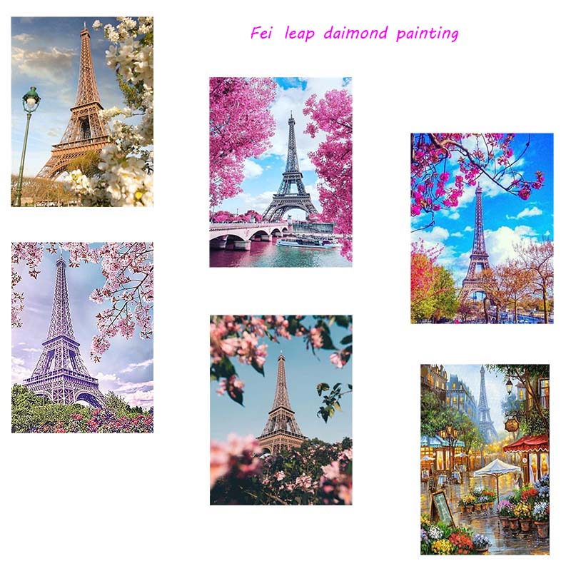 New Design Diy Diamond Painting City Landscape Diamond Painting Full Square Embroidery Home Handicrafts in Diamond Painting Cross Stitch from Home Garden